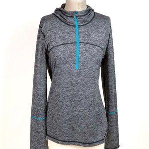 ZELLA XL 1/2 Zip Pullover Hoodie Long Sleeve Gray
